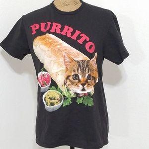 'purrito' a cat burrito tee, 😁 , cute!!